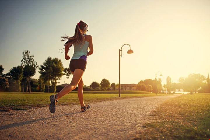 running park woman