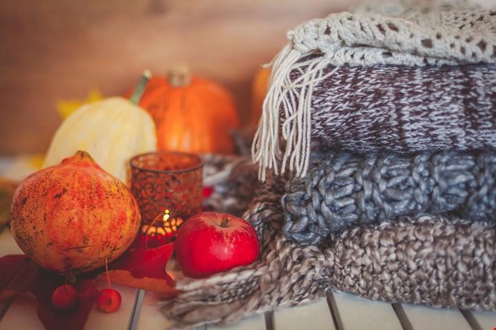 jetées décor automne